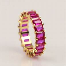 usa classic engagement wedding finger rings jewelry gold color inlay purple cz cubic