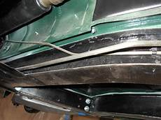 fuel and brake line routing grommets tr4 tr4a triumph experience car