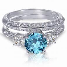 blue wedding rings white gold sterling silver brilliant blue topaz wedding engagement ring ebay