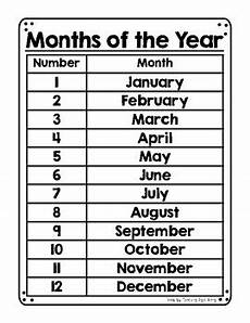months of the year poster by teaching right along tpt