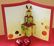 weihnachtskarten pop up karte basteln