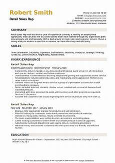 retail sales rep resume sles qwikresume