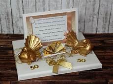 geld geschenk zur goldenen hochzeit mit tauben goldene