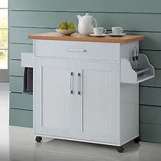Kitchen Island Cart With Cabinets by White Kitchen Island Cart On Wheels With Wood Top Rolling