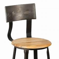 chaise de bar en acier assise bois atelier metal maison