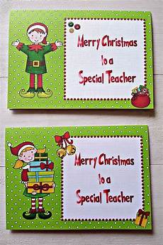 details about christmas cards for teachers preschool nursery thank you personalised cute