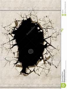 un trou dans un mur de mortier photo stock image du