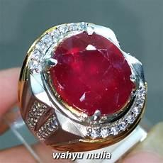 cincin batu permata ruby cutting merah delima asli kode 1501 wahyu mulia