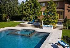 pool mit whirlpool integriert want a rectangular pool hubby wants a tub great way
