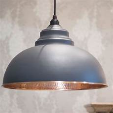 dark grey hammered copper harborne pendant period home style