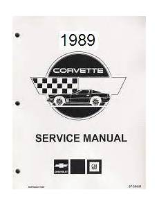electric and cars manual 1989 chevrolet corvette regenerative braking 1989 chevrolet corvette factory service manual reproduction
