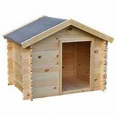 niche pour chien en bois fsc madriers 19 mm taille l