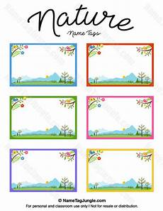 free printable nature name tags the template can also be used for creating items like labels