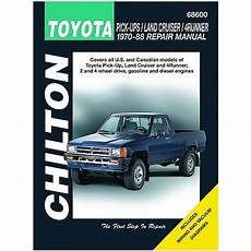 where to buy car manuals 1994 toyota land cruiser security system chilton toyota pick ups land cruiser and 4 runner 1970 1988 repair manual northern auto parts