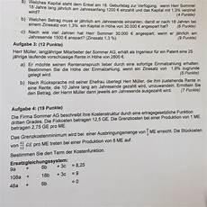kostenfunktion aufstellen 3 grades mathe mathematik