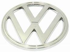 emblem front quot vw quot 182mm chrome fits volkswagen type2