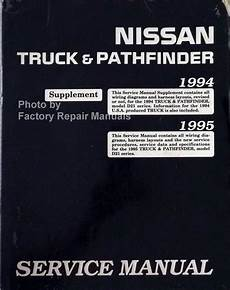free download parts manuals 1995 nissan pathfinder auto manual 1994 1995 nissan truck pathfinder service manual supplement wiring diagrams factory repair