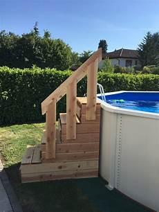 escalier bois piscine hors sol escalier pour piscine hors sol par rigy sur l air du bois