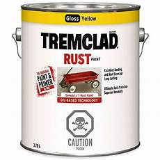 paint colours home depot canada tremclad based rust paint in gloss yellow 3 78 l the home depot canada