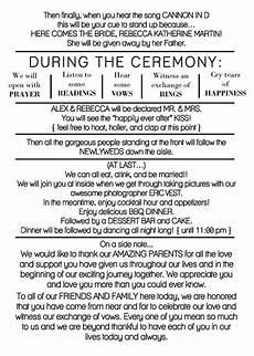 rustic wedding program template diy wedding program casual etsy wedding programs funny