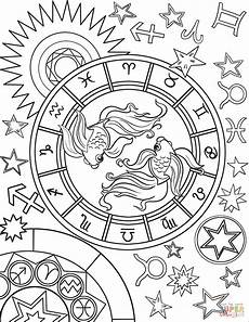 fische sternzeichen f 228 rbung coloring pages