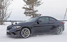 bmw m2 cs csl spotted testing in the snow