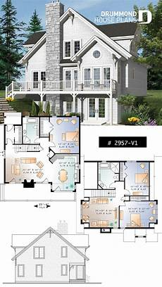 waterfront house plans walkout basement cottage plan with walkout basement 3 to 4 bedrooms open