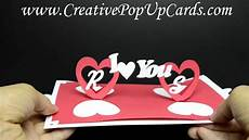 pop up card template s day valentines day pop up card twisting hearts