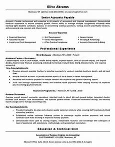 accounts payable resume exle reporting purchasing