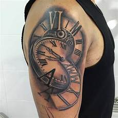 clock tattoo by antonio at holy grail tattoo studio