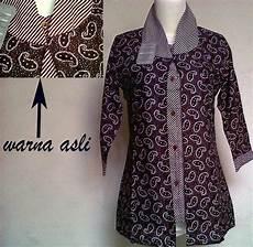 11 Model Baju Batik Kerja Guru Lengan Panjang Terpopuler