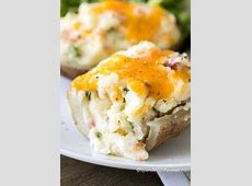 double baked potatoes with mushrooms and cheese_image