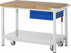 Werkbank Auf Rollen - werkbank rollbar u absenkbar montagetisch mit rollen