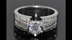 wide band diamond wedding rings best wide band diamond wedding and engagement rings youtube