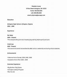for high school students high school resume template
