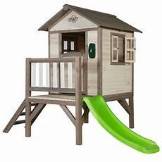 maison sur pilotis enfant maisonnette enfant bois sur pilotis toboggan lodge