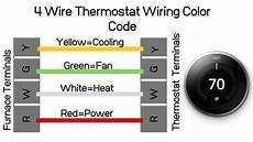 4 wire thermostat wiring color code onehoursmarthome com