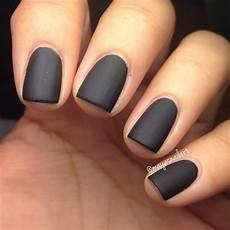 matte black manicure loving the idea of a matte nail