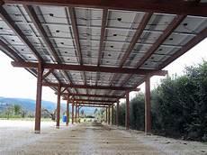 pannelli per tettoie tettoia fotovoltaica in legno pc14410