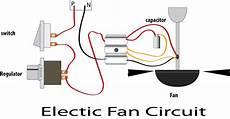 electric fan wiring diagram capacitor learn basic electronics circuit diagram repair mini project