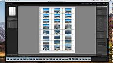 how to make a proof or contact sheet in adobe lightroom