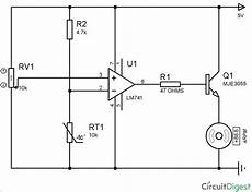 temperature controlled dc fan using thermistor project with circuit diagram