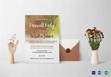 farewell card template ai free 24 farewell invitation designs exles in