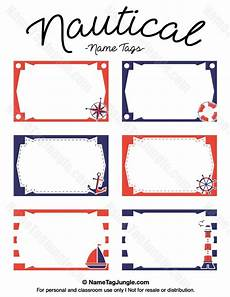 free printable nautical name tags the template can also