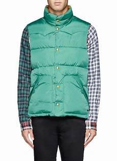 lyst scotch soda reversible puffer vest jacket in