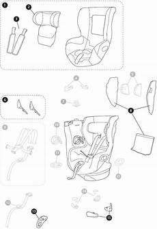 maxi cosi axiss spare parts for the child car seat