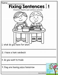 writing sentences with correct punctuation worksheets 22249 fixing sentences rewrite each sentence correctly great lesson to enforce proper grammar and