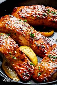 easy honey garlic salmon cafe delites