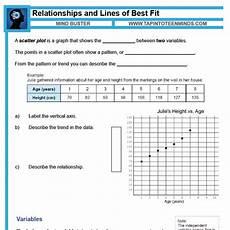 scatter plots and trend lines worksheet answer key worksheet