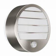 massive linz outdoor wall light stainless steel massive linz stainless steel outdoor wall light with pir sensor light fittings direct